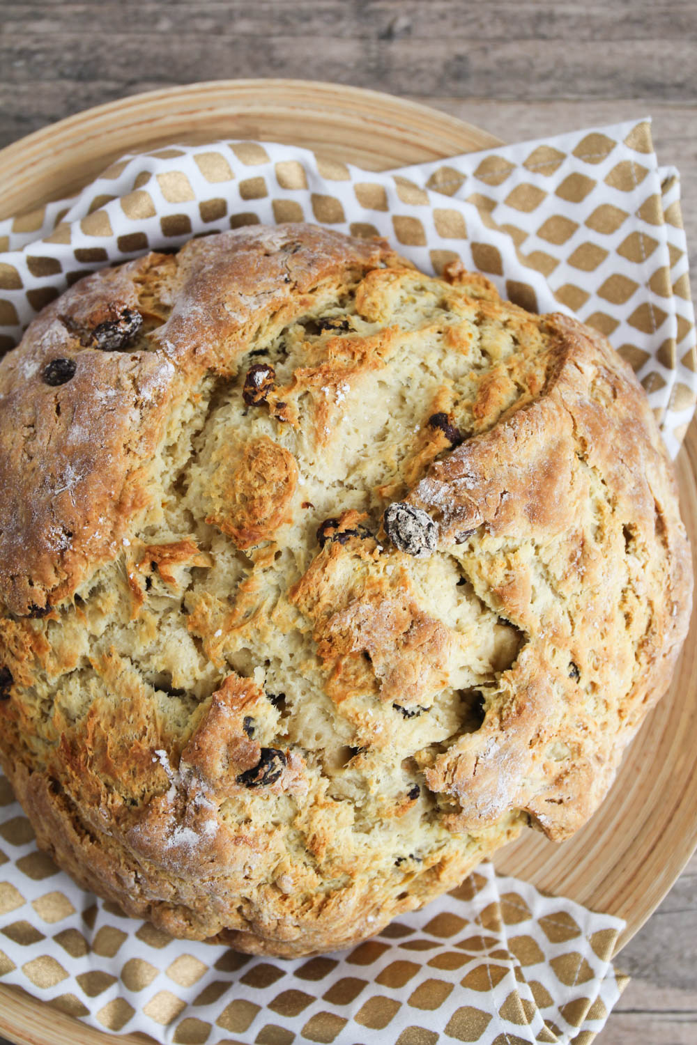 This sweet Irish soda bread is crisp on the outside, soft and tender on the inside, and super delicious!