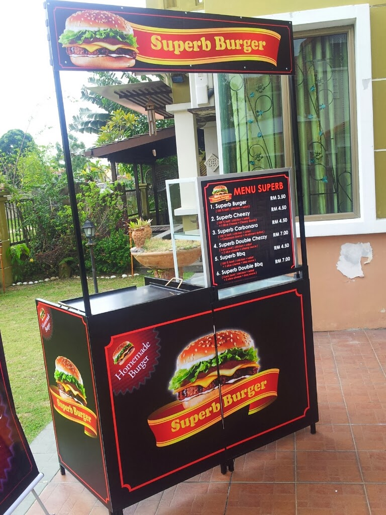 Stall Mudah Lipat By Custom Kiosk Model Burger