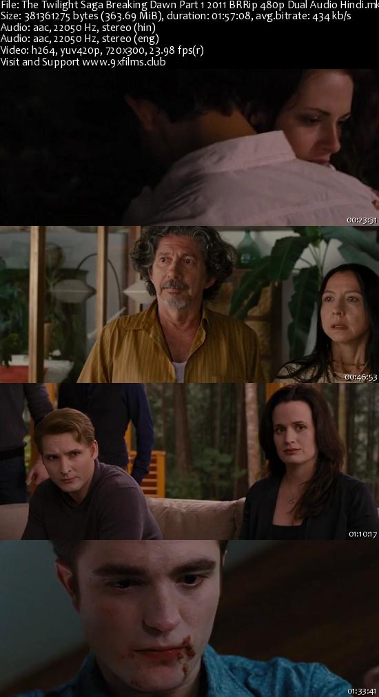 The Twilight Saga Breaking Dawn Part 1 2011 BRRip 480p Dual Audio Hindi
