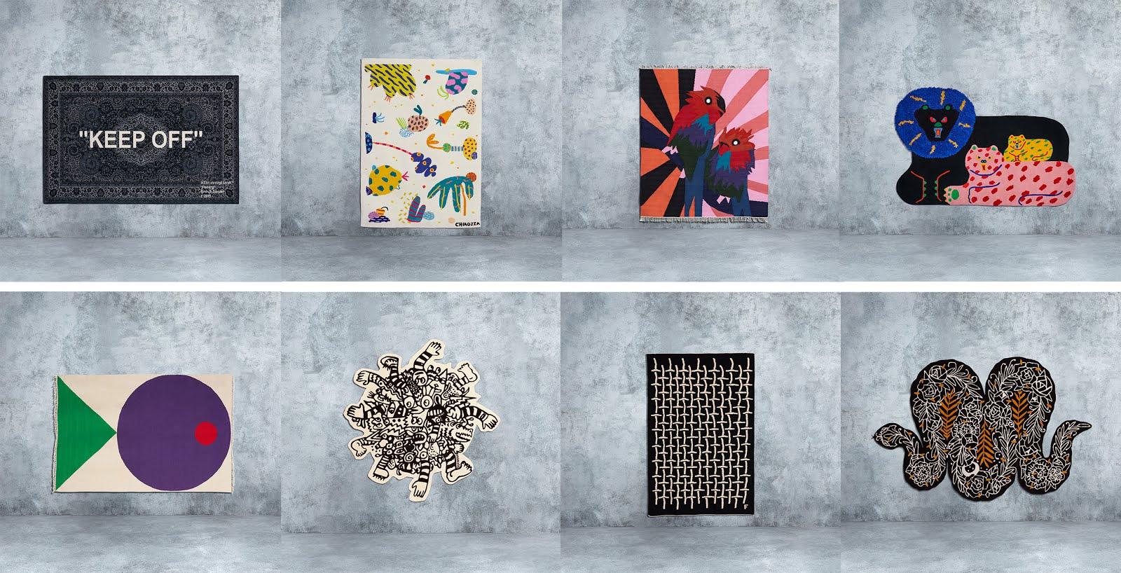 Ikea Art collection 2019, Virgil abloh, chiazzo, craig green, misaki kawai, seulgi lee, noah lyon, filip pagowski, carpet, tapijt, kunst, belgie, ikea anderlecht