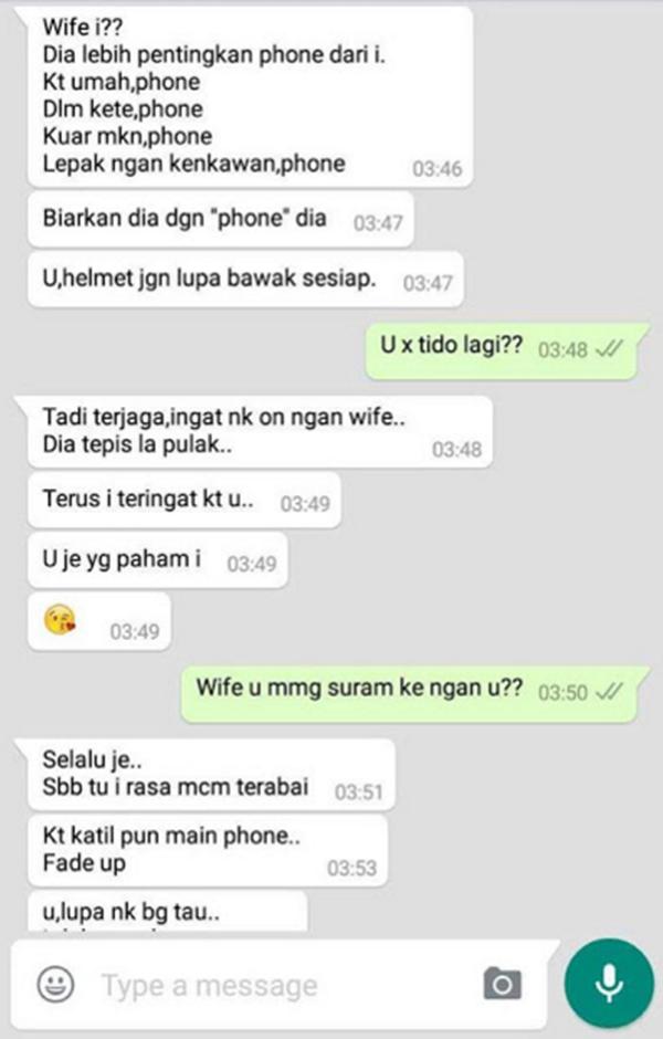 UNDANG PADAH Bila Taksub Layan Handphone, Ini Pengakuan Suami 'Makan Luar' Pasti Mengejutkan Orang Ramai!