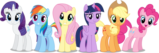 Applejack, Pinkie Pie, Rarity, Twilight Sparkle, Rainbow Dash, Fluttershy