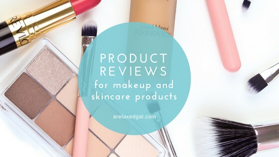 Beauty product reviews on arelaxedgal.com