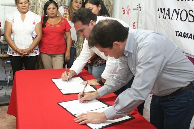 CDI y SEDESOL estatal firman convenio para beneficiar a comunidades mayas