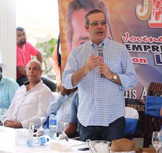 Grupo de jóvenes empresarios apoya a Luis  Abinader y crecimiento PRM