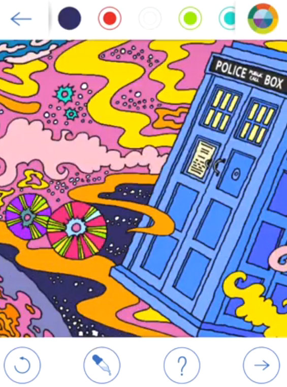 It Looks Like You May Be Having Problems Playing This Video If So Please Try Restarting Your Browser Close Doctor Who Colouring Book App