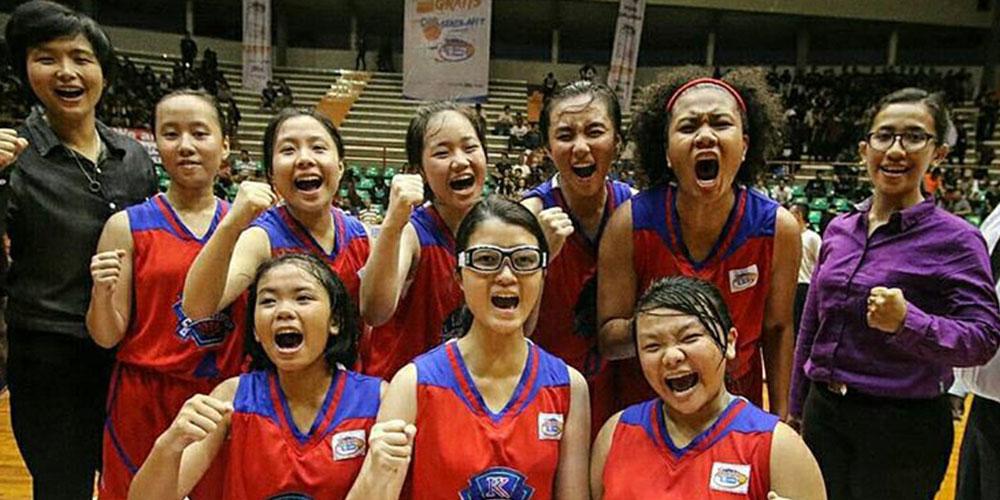 Tim Basket Putri SMP KK Masuk Final Party Junio JRBL