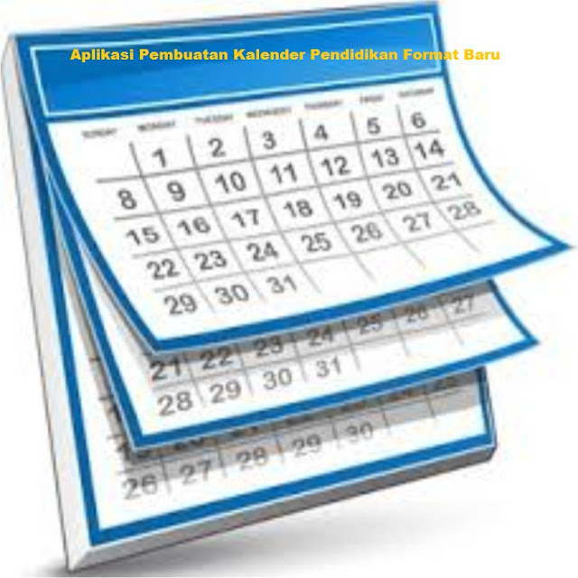 Aplikasi Pembuatan Kalender Pendidikan Format Baru