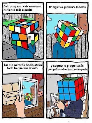 Mensaje positivo Cubo de Rubik
