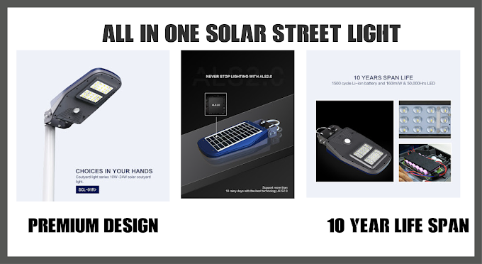 Smart integrated 20W to 100w solar street light with waterproof ip65.