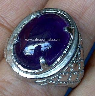 Cincin Batu Kecubung Ungu Kalimantan - ZP 507