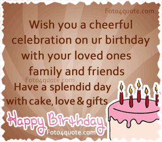 Happy Birthday Wises Cards For friends: celebration your birthday with your loved ones family