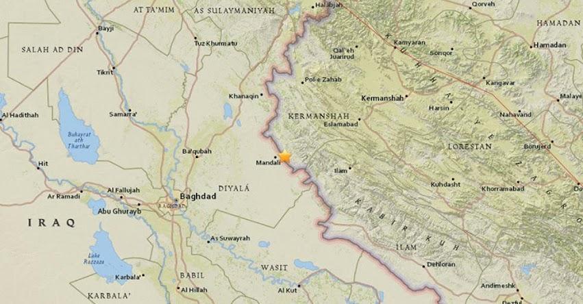TEMBLOR EN IRÁN: Fuerte sismo de magnitud 4.9 (Hoy Viernes 19 Enero 2018) Terremoto EPICENTRO Ilam - Bagdad - USGS
