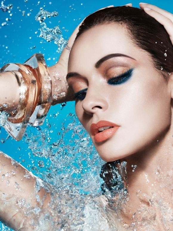 Lush Fab Glam Inspired Lifestyle For The Modern Woman Spring Summer Makeup Tutorial Beautiful Peach And Aqua Blue Eyes