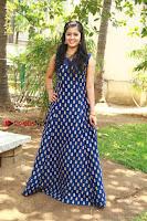 Tamil Actress Amritha Pos in Blue Long Dress at Padaiveeran Tamil Movie Audio Launch  0009.jpg
