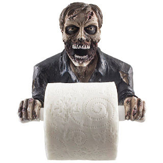 Image: The Undead Graveyard Zombie Decorative Toilet Paper Holder in Scary Halloween Decorations As Bathroom Wall Decor Art & Plaques or Spooky Home Bath Decorating Accessories for Whimsical Novelty Gifts