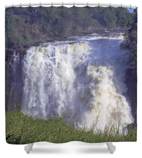Buy shower curtain of Victoria Falls