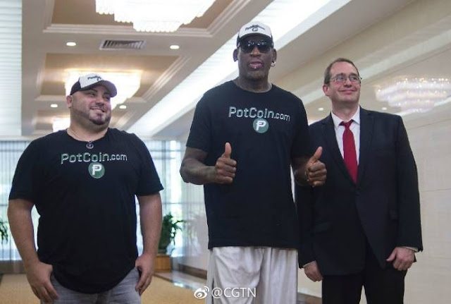 Former NBA star Dennis Rodman arrived in Pyongyang on Tuesday
