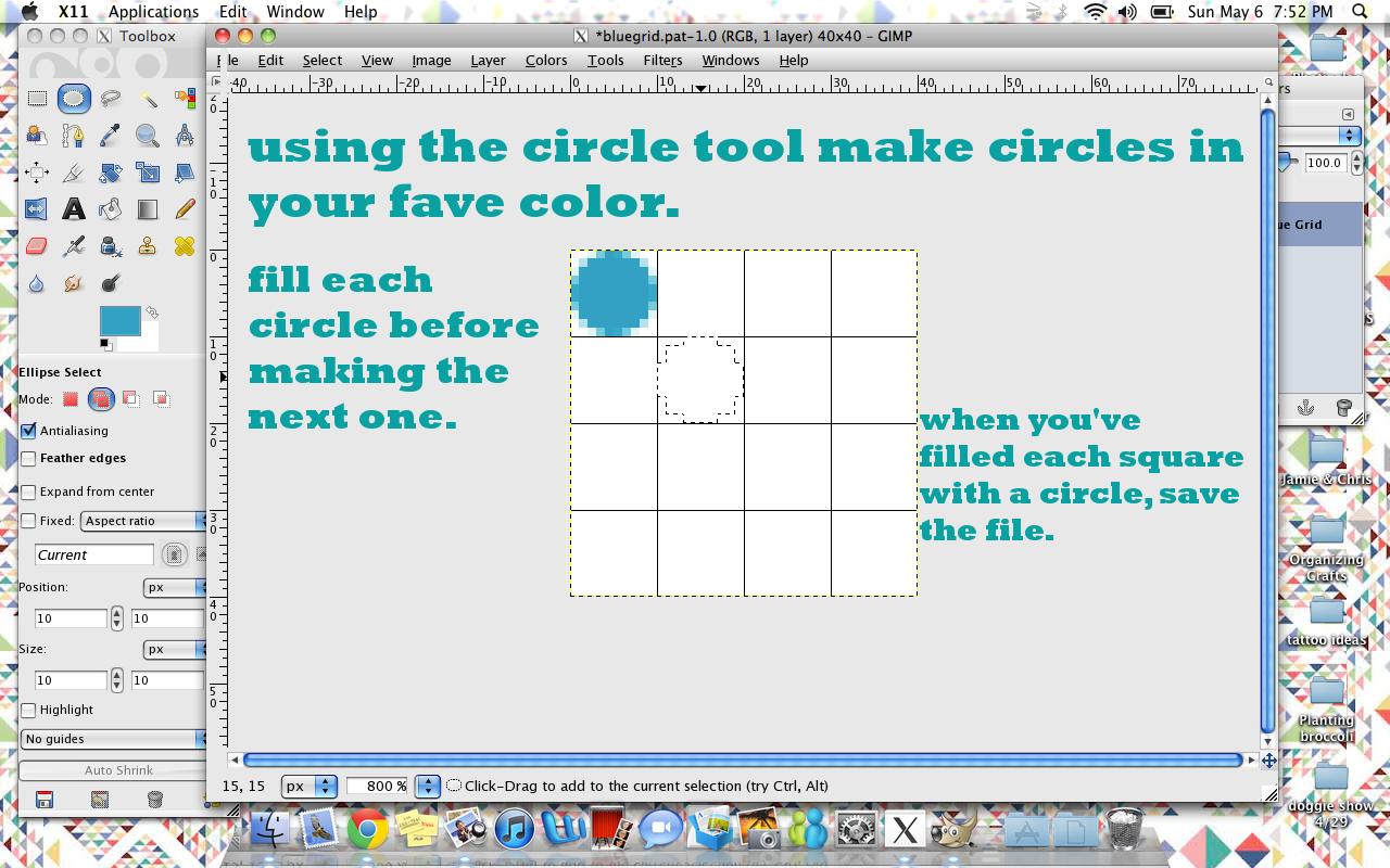 365 Days of DIY: Making a Pattern in GIMP
