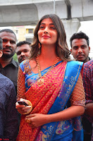 Puja Hegde looks stunning in Red saree at launch of Anutex shopping mall ~ Celebrities Galleries 095.JPG
