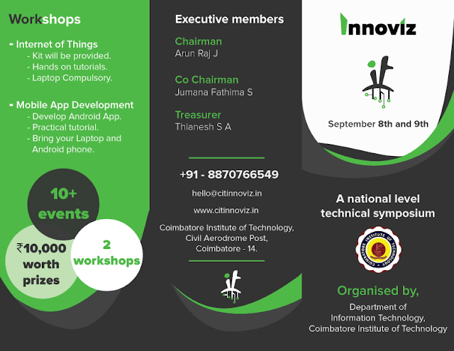Innoviz 2017: A National Level Symposium at CIT (September 08 to 09, 2017)