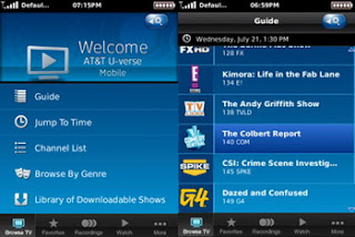 AT&T U-verse Mobile released for BlackBerry Curve 3G and Android phones