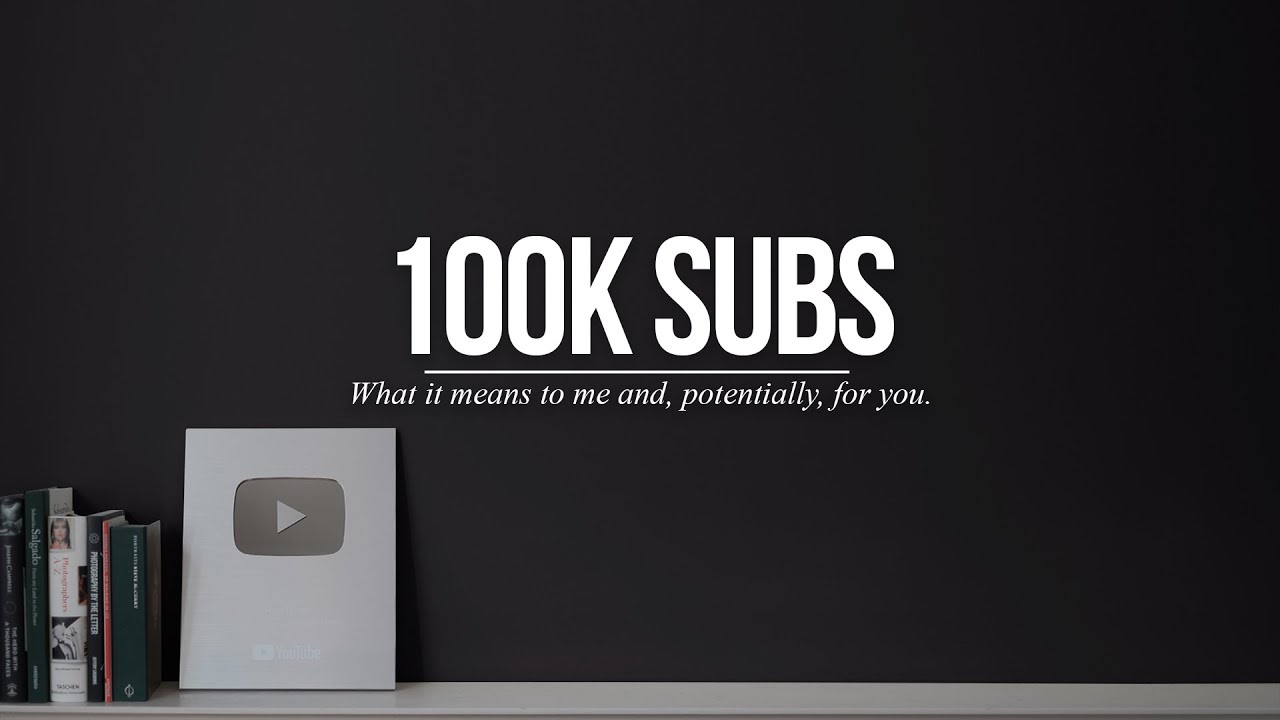 100,000 Subscribers: What it means to Sean Tucker... and for your own channel.