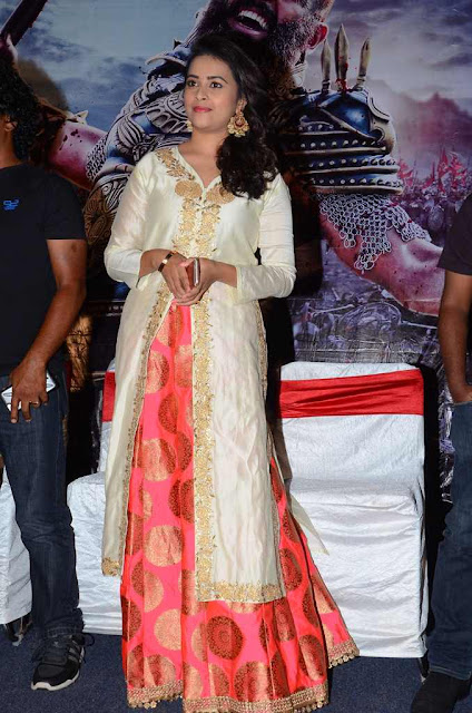 Sri Divya in White Long Dress at Kaashmora Telugu Movie Audio Launch