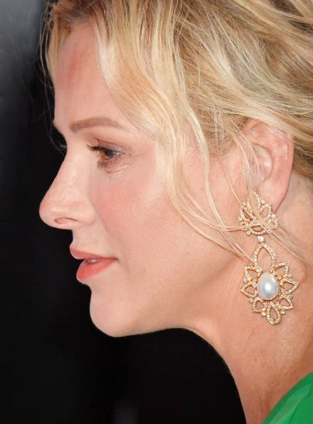 Repossi gold pearl diamond earrings