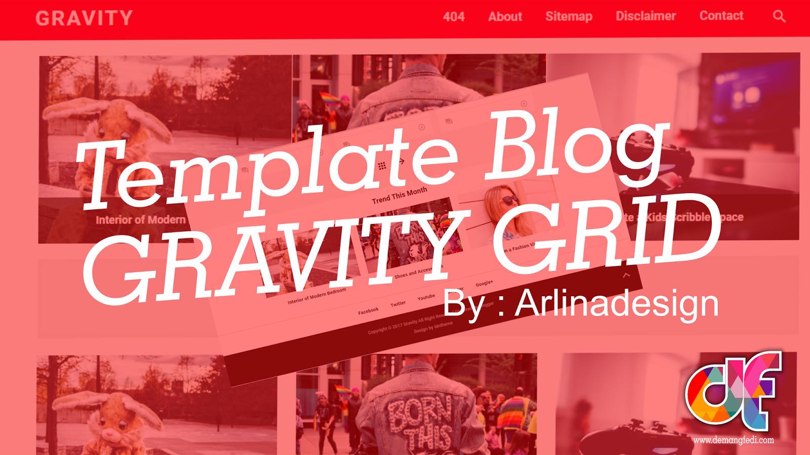 Template Blog Gravity Responsive