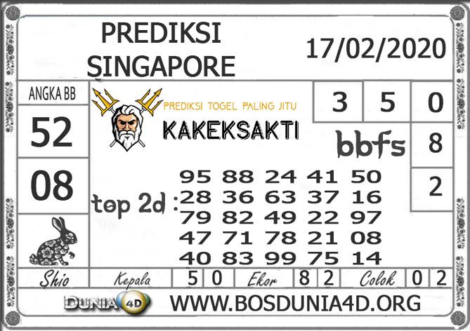 PREDIKSI TOGEL SINGAPORE DUNIA4D 17 FEBRUARI 2020