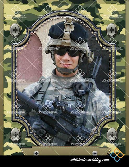Marco para fotos del día del soldado o el día del militar