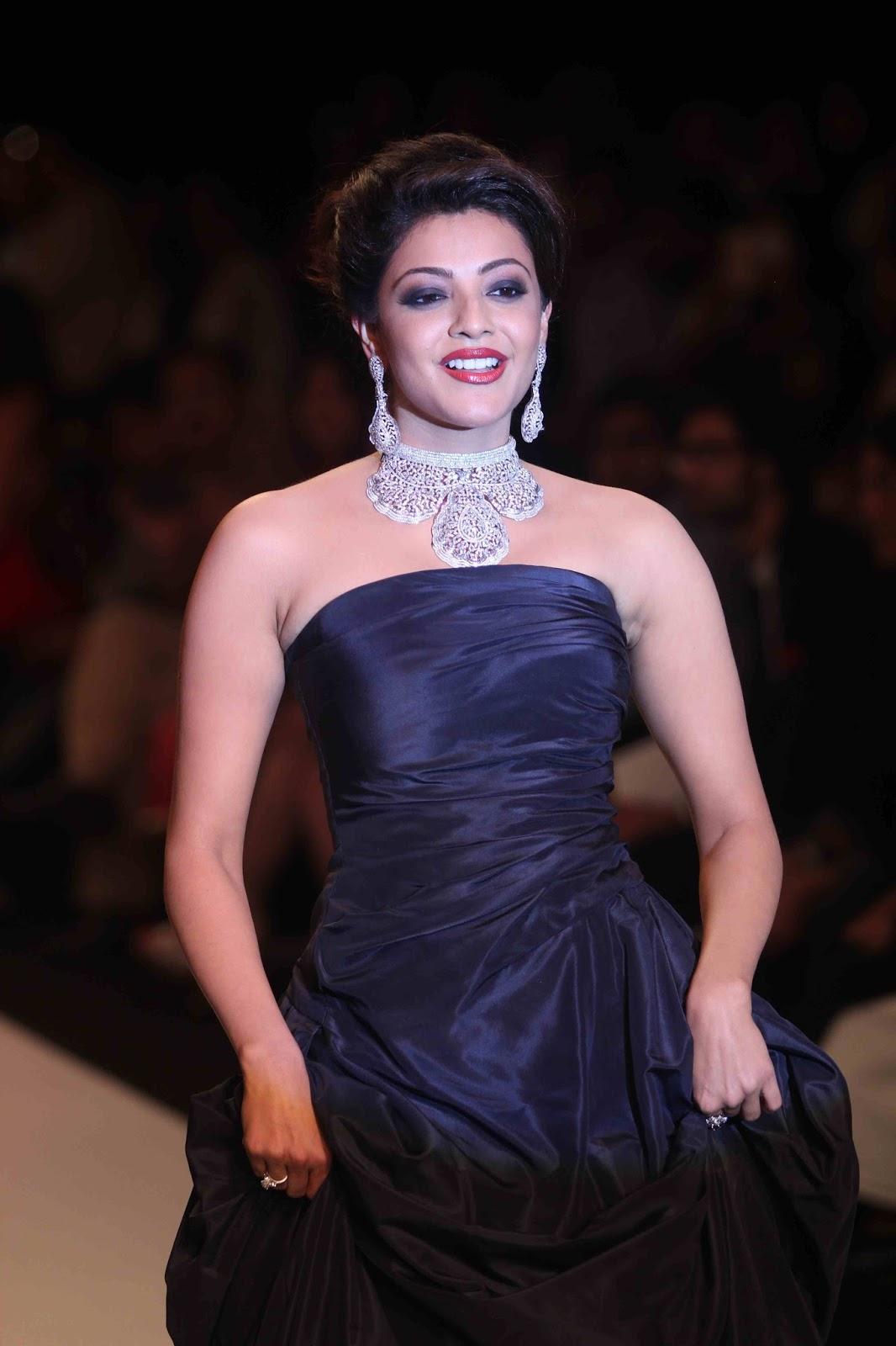 Kajal Aggarwal In Black Dress