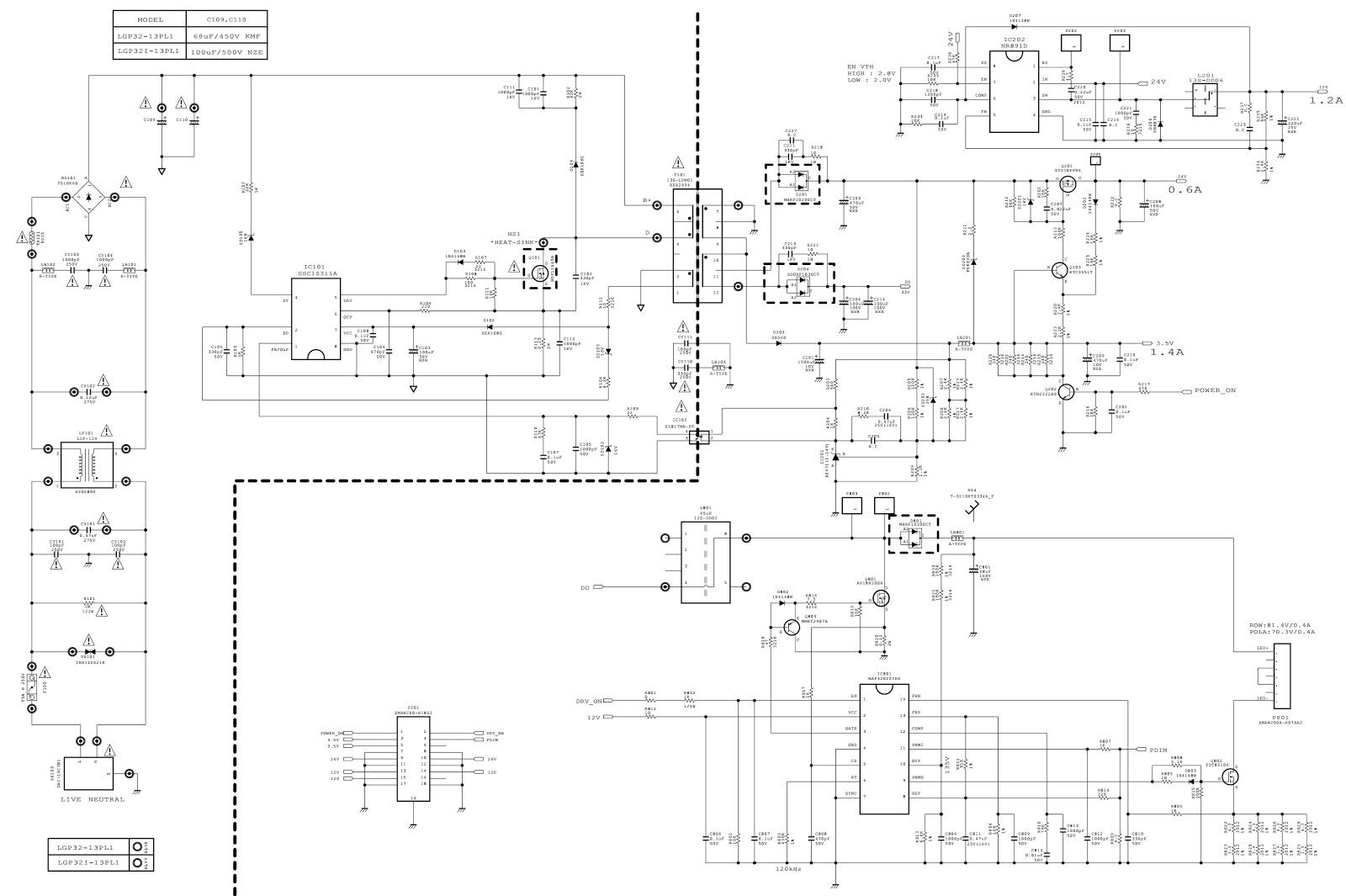 Computer Power Supply Schematic Diagram