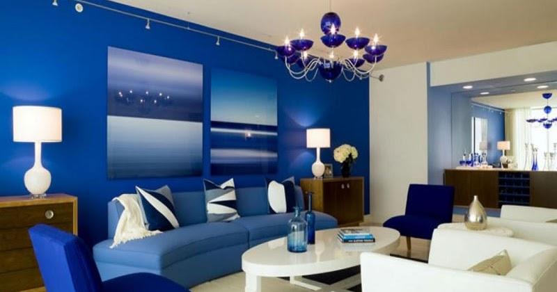 31+ Warna Cat Ruang Tamu 2 Warna Biru Simple Dan Minimalis