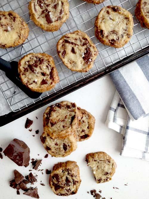 the cookie that broke the internet - shortbread con manteca salada y chuncks de chocolate de Alison Roman