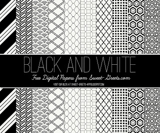 Free Black and White Digital Paper