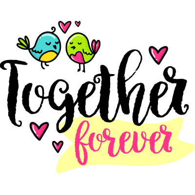 Together Forever Sticker