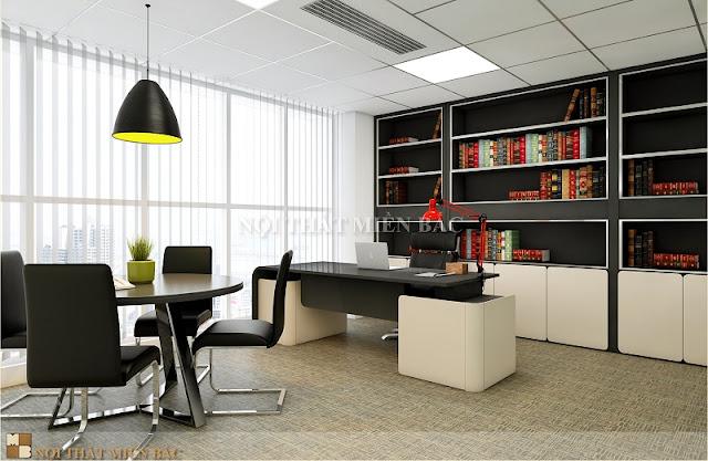 Phong cách của thiết kế phòng giám đốc này rất phù hợp với những người lãnh đạo trẻ có cá tính phóng khoáng và năng động