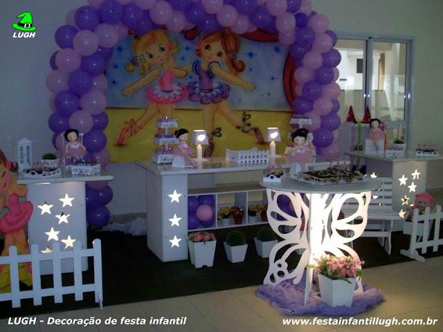 Decoração festa infantil Bailarinas - Aniversário - Provençal luxo