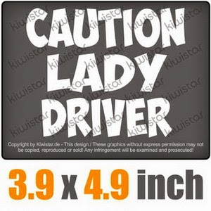 coution lady driver