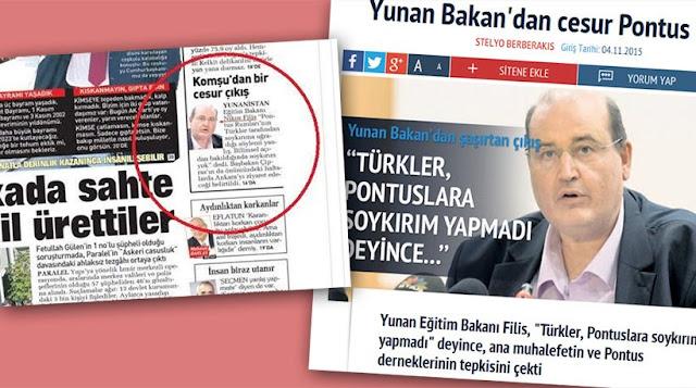 Πανηγυρίζει η τουρκική Sabah για τις δηλώσεις Φίλη