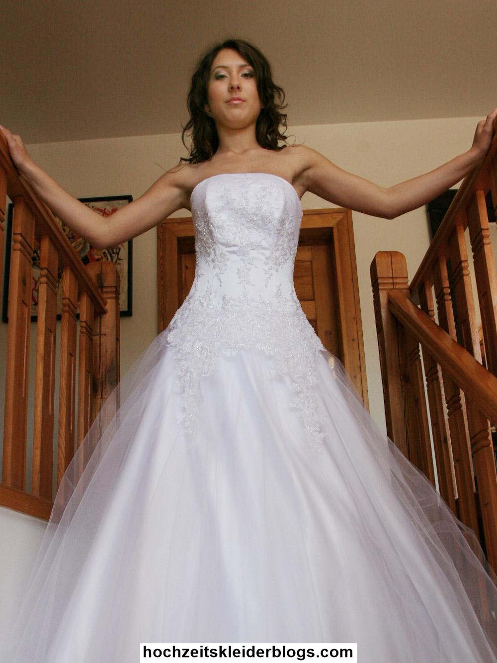 Glitzer Hochzeitskleid
