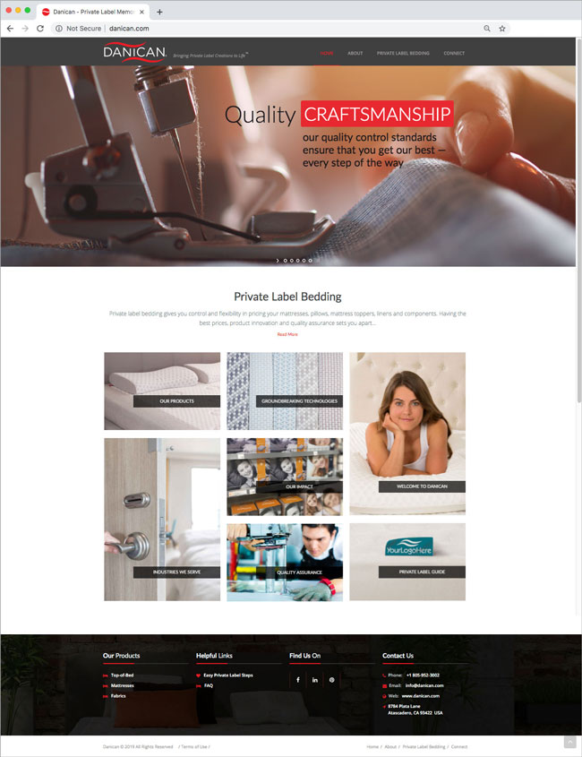 Danican Website Design - Award Winning Website Design - Studio 101 West Design