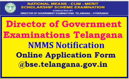 NMMS/National Means cum Merit Scholarship examination 2018 Apply Online @ bse.telangana.gov.in TS NMMS Exam 2018 National Means cum Merit Scholarship Scheme Examination | Telangana NMMS 2018-19 for Class VIII | TS NMMS Application Form 2018-2019 - National Means Merit Scholarship | Telangana NMMS Answrer Key 2018 question paper download | TS NMMS notification 2018-19 - National Means Merit Scholarship telangana | TS NMMS Hall Tickets 2018 download - Telangana NMMS Results | TS NMMS Application Form 2018-2019 - National Means Merit Scholarship | TS NMMS 2018-19 Results-and Merit List of Telangana National Means Cum Merit Scolarship Exam 2018 | NMMS/National Means cum Merit Scholarship examination (for VIII class students) will be conducted on 04-11-2018(sunday) | telangana-nmms-national-mean-merit-scholarship-scheme-notification-eligibility-criteria-online-application-form-apply-online-hall-tickets-admit-cards-answer-key-results-merit-list-syllabus-model-question-papers-download-bse.telangana.gov.in/2018/08/telangana-nmms-national-mean-merit-scholarship-scheme-notification-eligibility-criteria-online-application-form-apply-online-hall-tickets-admit-cards-answer-key-results-merit-list-syllabus-model-question-papers-download-bse.telangana.gov.in.html