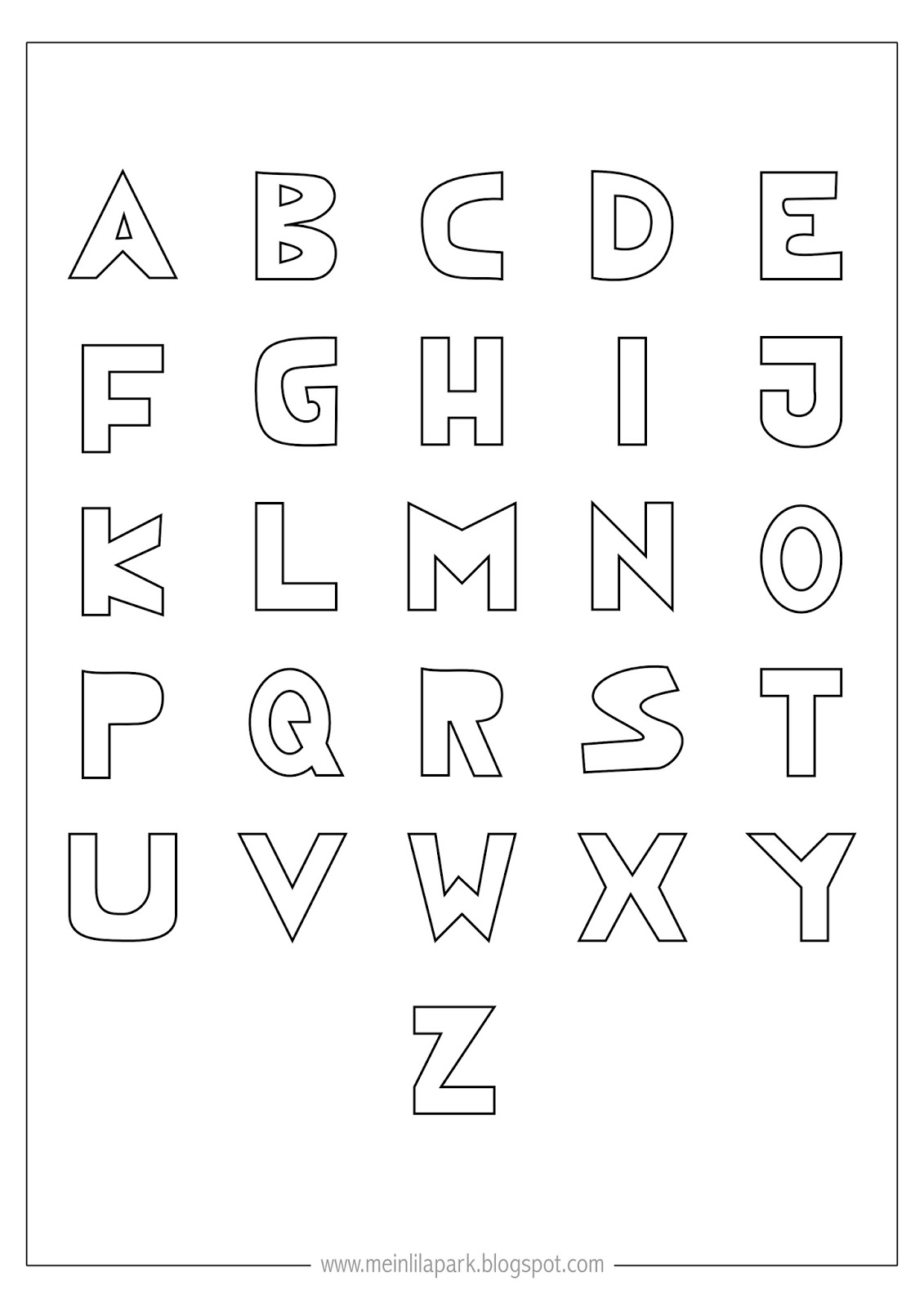 Free Printable Coloring Alphabet Letters