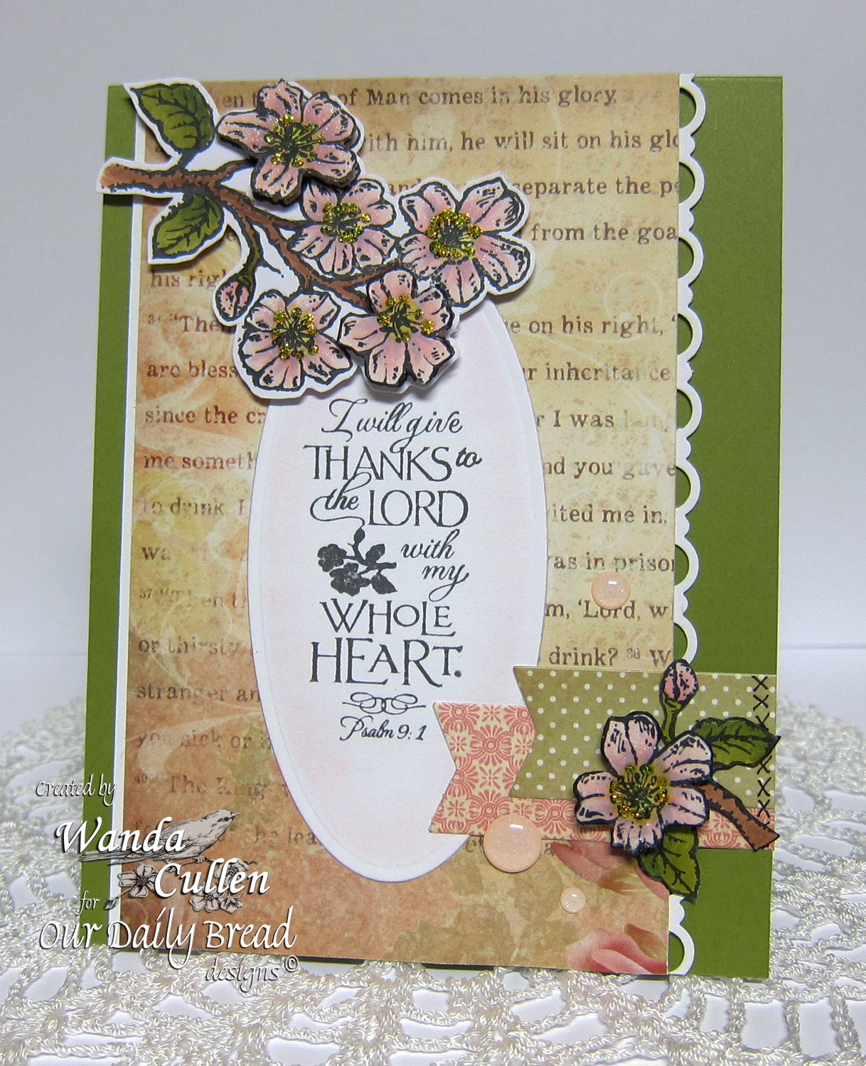 Stamps - Our Daily Bread Designs Cherry Blossom, ODBD Custom Beautiful Borders Dies, ODBD Blushing Rose Paper Collection