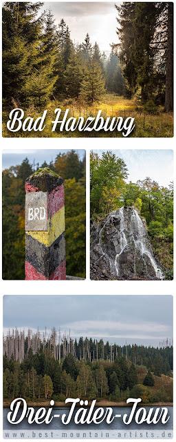 Drei-Täler-Tour  Themenwanderweg Bad Harzburg  Wandern im Harz  Baumwipfelpfad - Radauwasserfall - Eckertalsperre