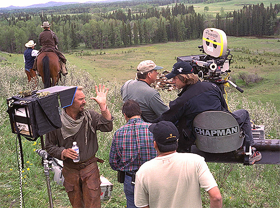 Kevin Costner dirigiendo Open Range