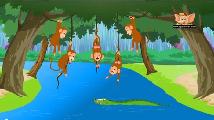 Five Little Monkeys Swinging Tree